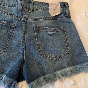 Vanilla Star Shorts - denim frayed shorts